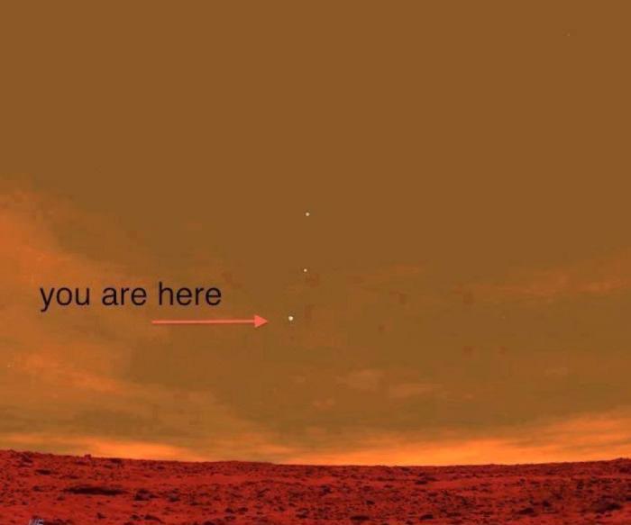 La Tierra desde Marte