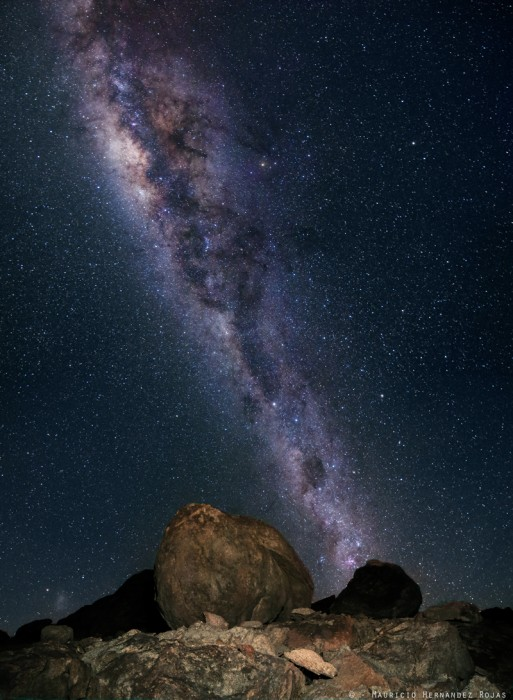 Vía Láctea en las cercanías de Copiapó