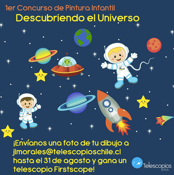 1er concurso de pintura infantil descubriendo el universo - Dibujos infantiles del espacio ...