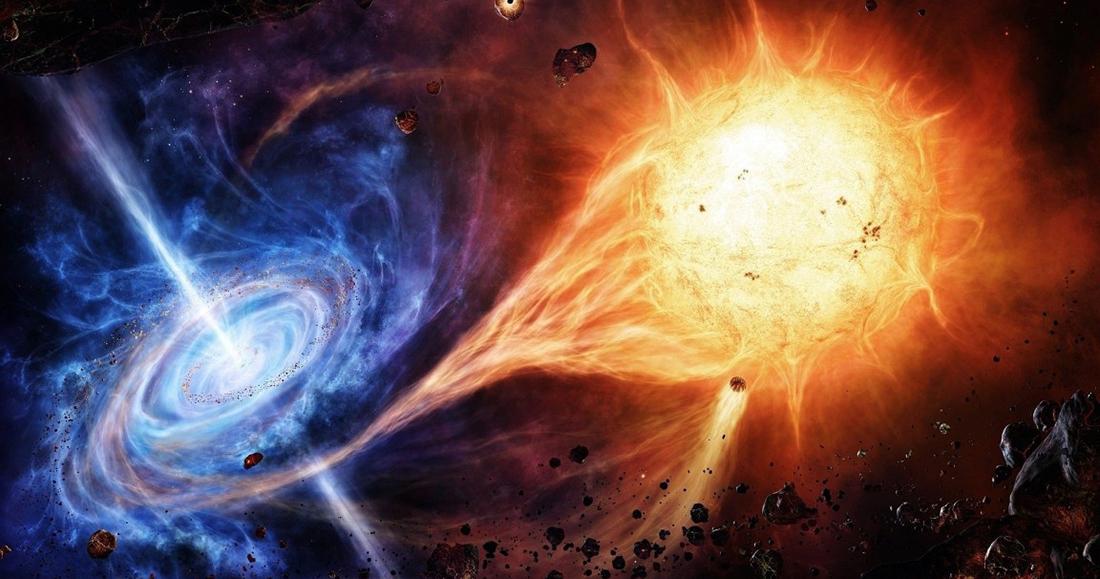 Resultado de imagen de Agujero negro engulle a una estrella