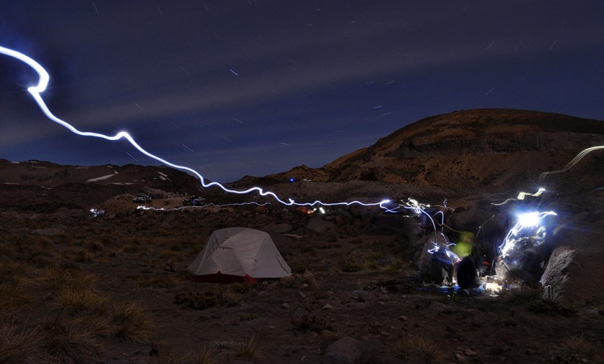 Valle de los Cóndores, San Clemente - Talca. Cámara: Nikon 5100. Lente: 18-55 mm.  Segundos: 704.  f: 22. iso: 320. Sebastián Riveros Herrera