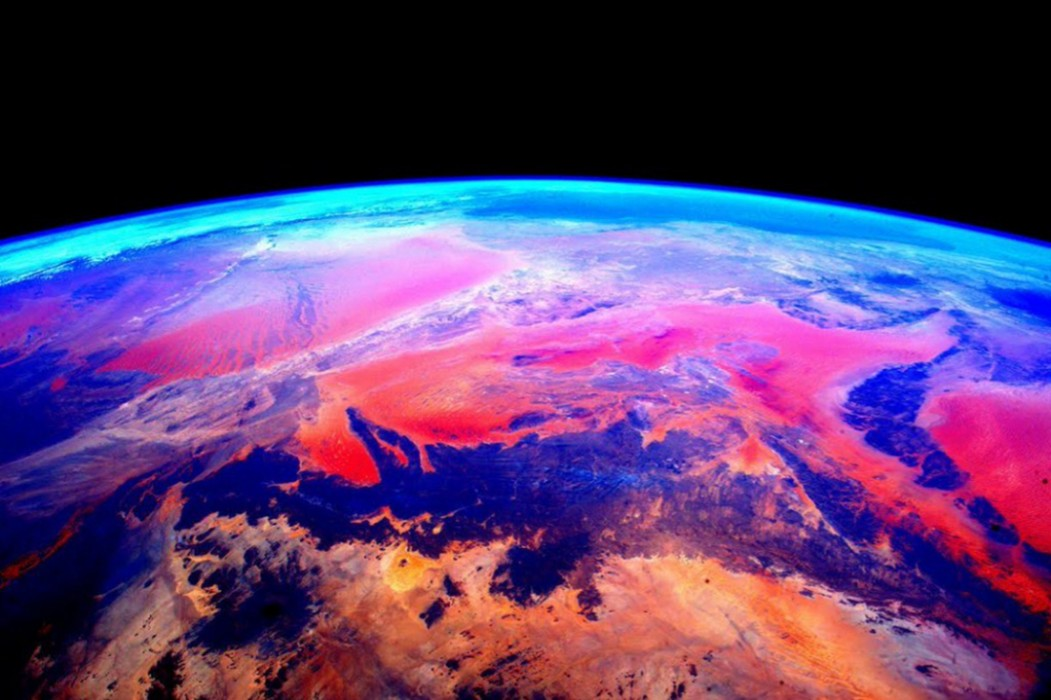 Los colores de África vista desde el espacio.
