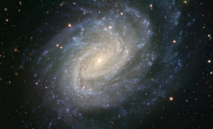 This picture taken with ESO's Very Large Telescope shows the galaxy NGC 1187. This impressive spiral lies about 60 million light-years away in the constellation of Eridanus (The River). NGC 1187 has hosted two supernova explosions during the last thirty years, the latest one in 2007.