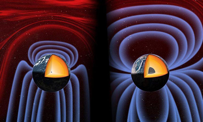 como se creo campo magnetico tierra