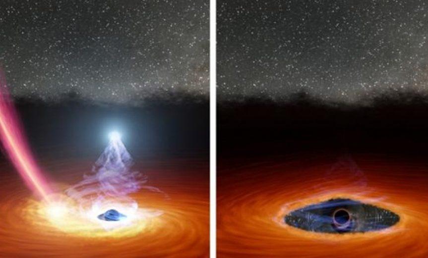 corona agujero negro
